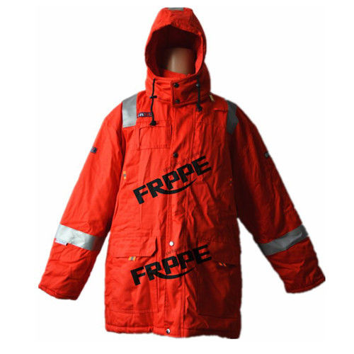 Red Anti static FR Flame Resistant Winter Jackets With Reflective Tape